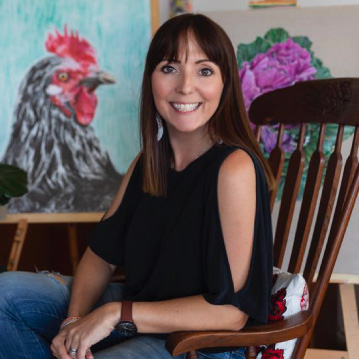 Amanda, the artist who owns Paper Pickle.